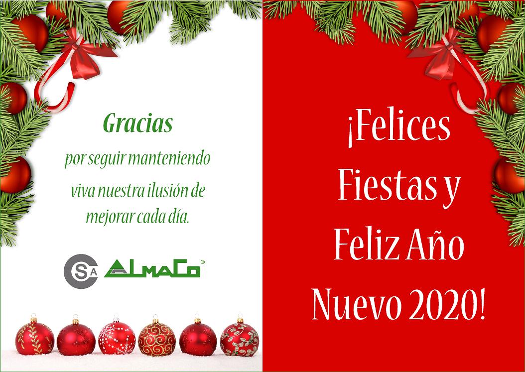 ¡FELICES FIESTAS Y FELIZ ENTRADA DE AÑO 2020!