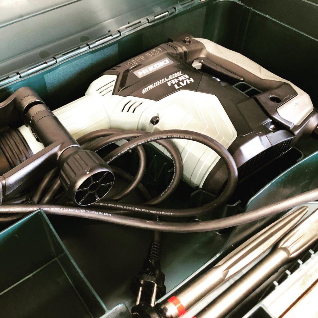 h60mc hikoki hitachi martillos eléctricos picador demoledor alquiler de maquinaria valencia paterna sac almaco brocas sds max plus palas